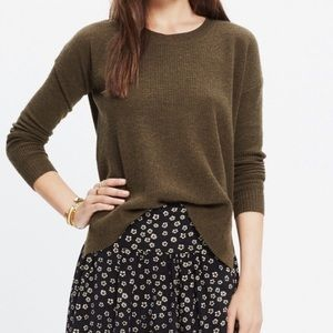 Madewell Warmlight Pullover Sweater Olive Green S